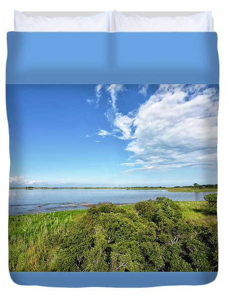 Duvet Cover featuring the photograph Gordons Pond Overlook - Cape Henlopen State Park - Delaware by Brendan Reals