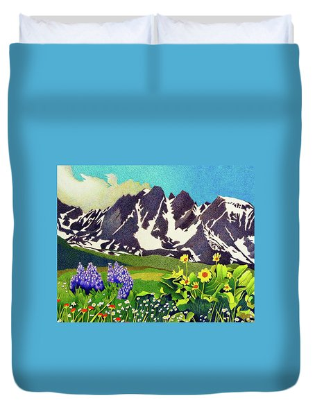 Gore Range Wildflowers Duvet Cover