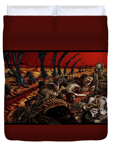 Gored-explored Duvet Cover