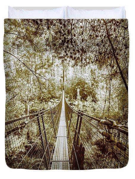 Gorge Swinging Bridges Duvet Cover