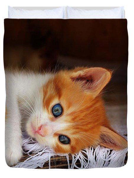 Gorgeous Blue Eyes Duvet Cover