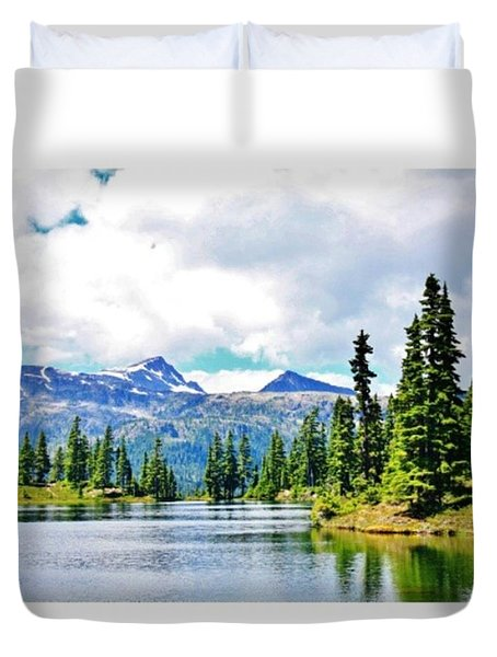 Gorgeous Hike To The Campsite! #hike Duvet Cover