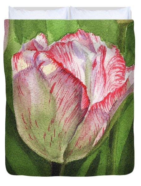 Gorgeous Tulip Watercolor Realism  Duvet Cover