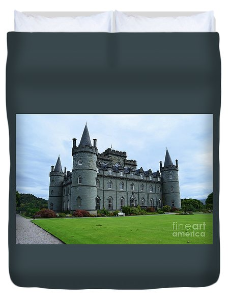 Gorgeous View Of Inveraray Castle Duvet Cover