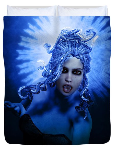 Gorgon Blue Duvet Cover by Joaquin Abella