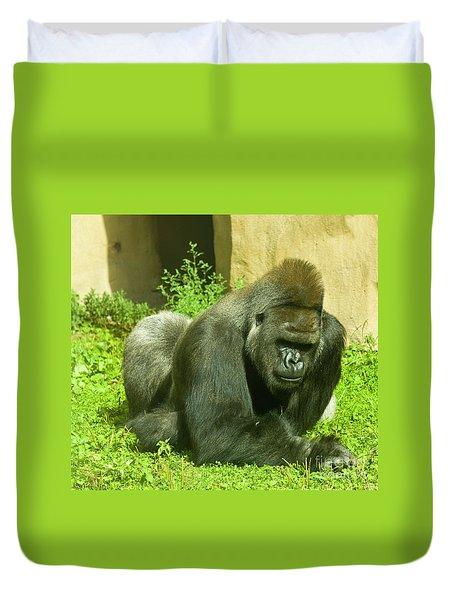 Gorilla Duvet Cover by Irina Afonskaya