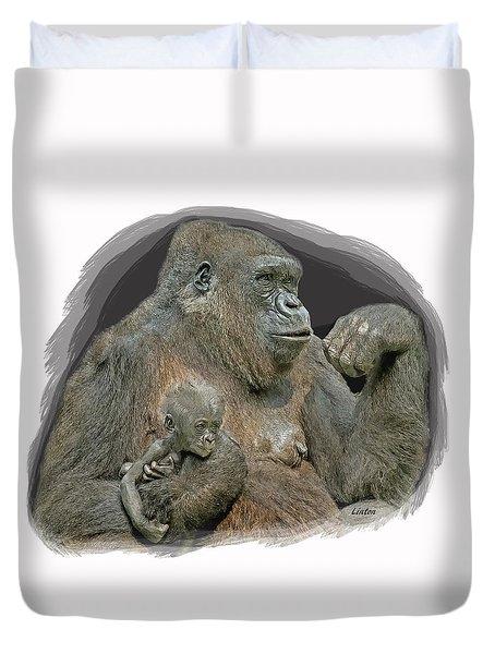 Gorilla Motherhood Duvet Cover