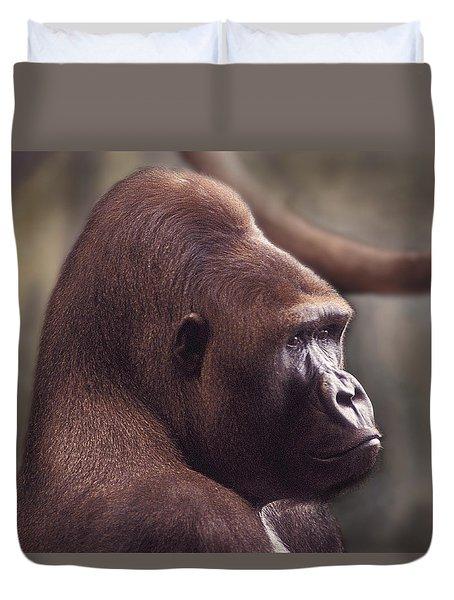 Gorilla Portrait Duvet Cover