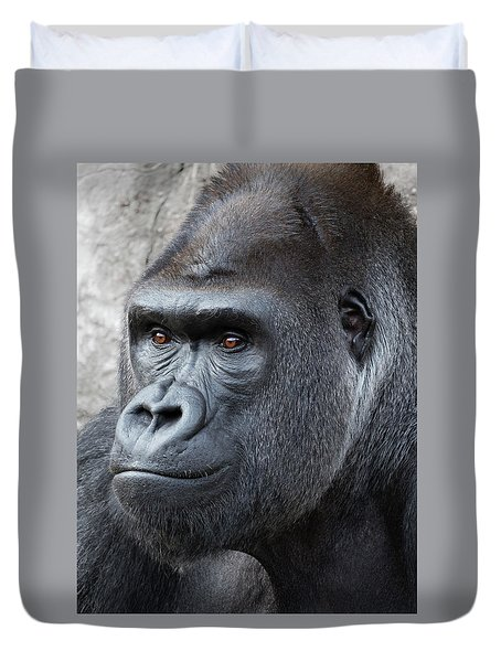 Gorillas In The Mist Duvet Cover