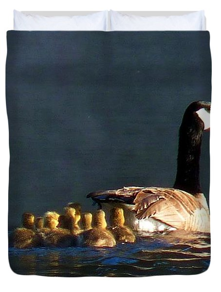 Gosling On Parade Duvet Cover