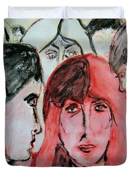 Gossip Duvet Cover by Judith Redman