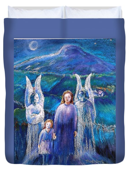 Gossiping Guardian Angels  Duvet Cover