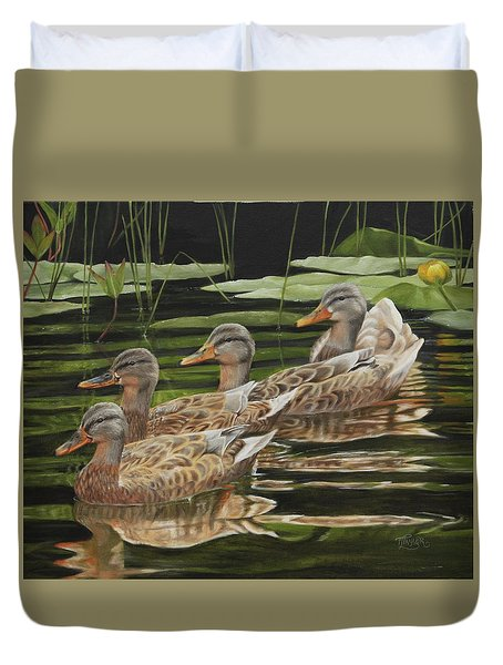 Got My Ducks In A Row Duvet Cover
