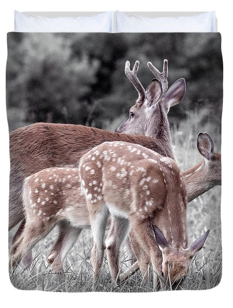 Humor Got Some Doe And Two Bucks Duvet Cover