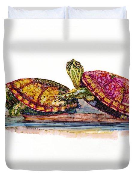 Spring Turtles Duvet Cover