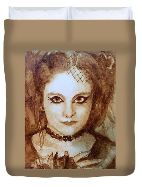 Goth Lady Duvet Cover by Chrissey Dittus