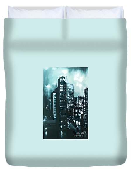 Gotham Painting Duvet Cover