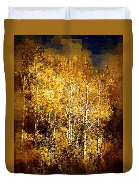 Gothic Aspen Trees Duvet Cover