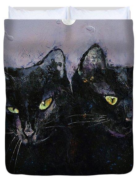 Gothic Cats Duvet Cover