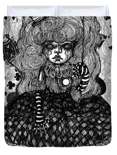 Gothic Cute Girl Duvet Cover