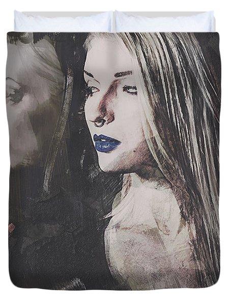 Gothic Mirror Echo Duvet Cover