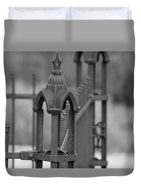 Gothic Ornamental Fence In Boothill Duvet Cover