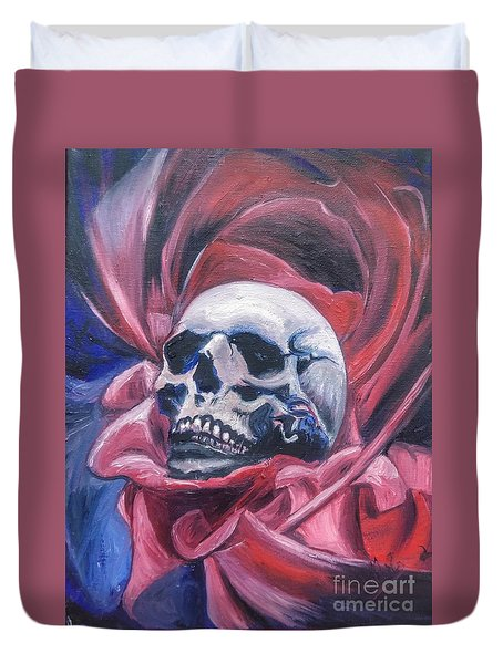 Duvet Cover featuring the painting Gothic Romance by Isabella F Abbie Shores FRSA