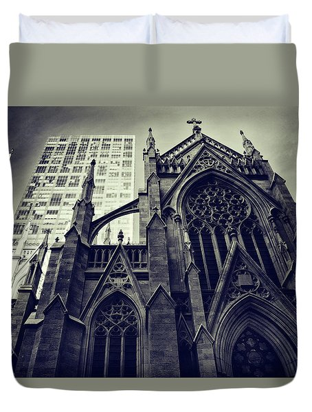 Duvet Cover featuring the photograph Gothic Perspectives by Jessica Jenney