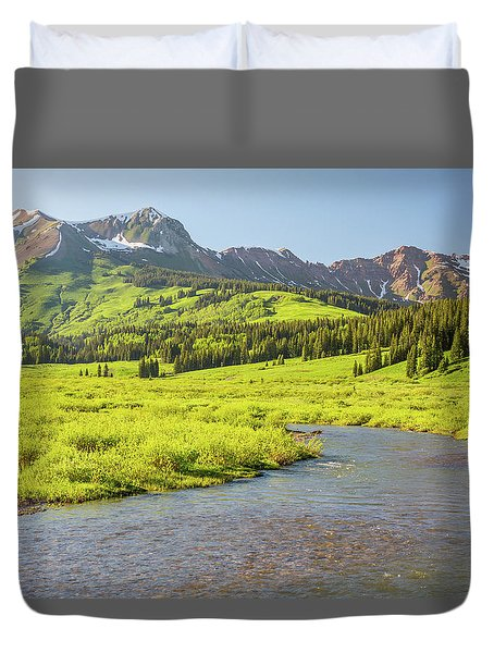 Duvet Cover featuring the photograph Gothic Valley - Early Evening by Eric Glaser