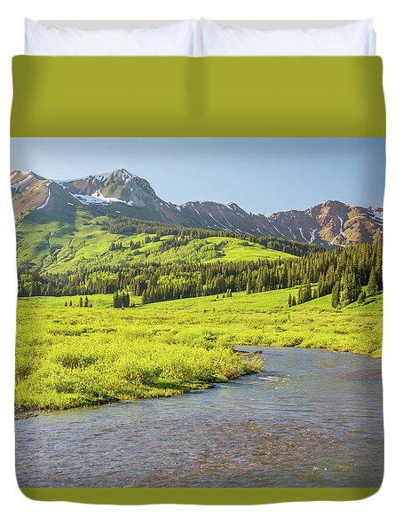 Gothic Valley - Early Evening Duvet Cover