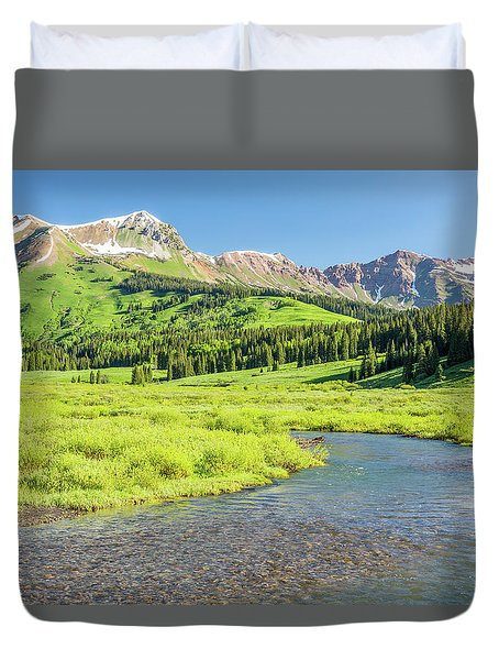 Duvet Cover featuring the photograph Gothic Valley - Morning by Eric Glaser