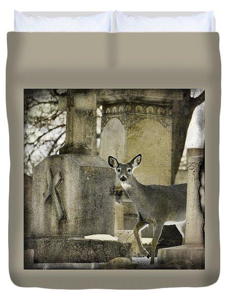 Gothic Winter Northeastern White-tailed Deer Duvet Cover