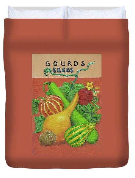 Gourd Orange Duvet Cover