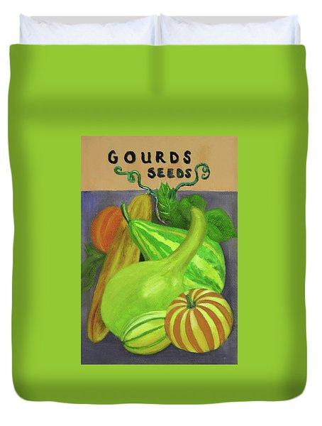 Gourd Purple Duvet Cover
