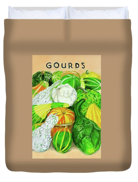 Gourd Seed Packet Duvet Cover