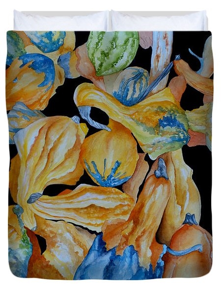 Gourds Galore Duvet Cover by Rosie Brown