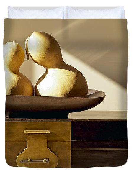 Gourds Still Life II Duvet Cover by Kyle Rothenborg - Printscapes