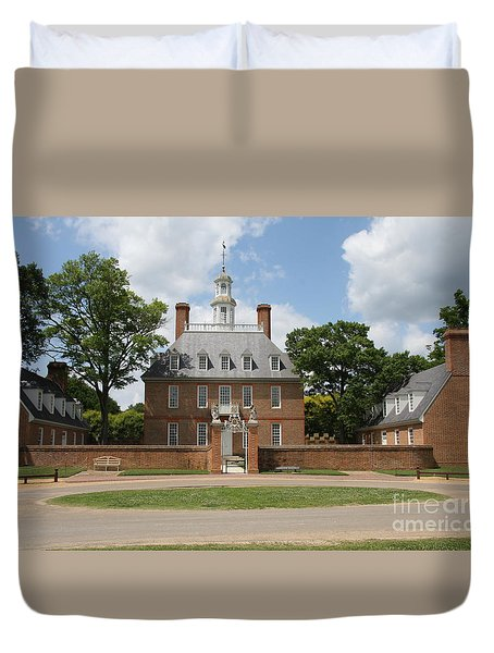 Governers Palace - Williamsburg Va Duvet Cover by Christiane Schulze Art And Photography