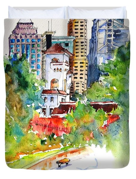 Governor's House, Hong Kong Duvet Cover