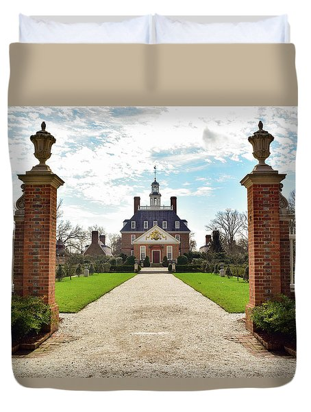 Governor's Palace In Williamsburg, Virginia Duvet Cover