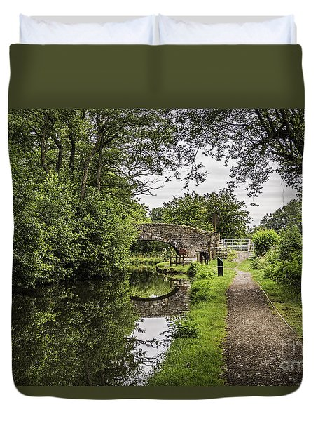 Goytre Wharf  Bridge Duvet Cover