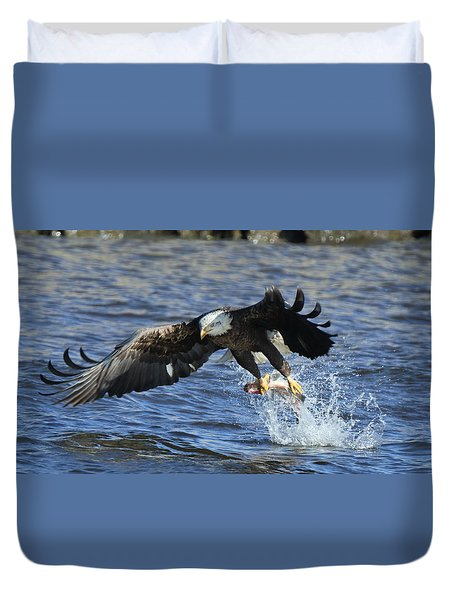Grabbing Some Dinner Duvet Cover by Coby Cooper