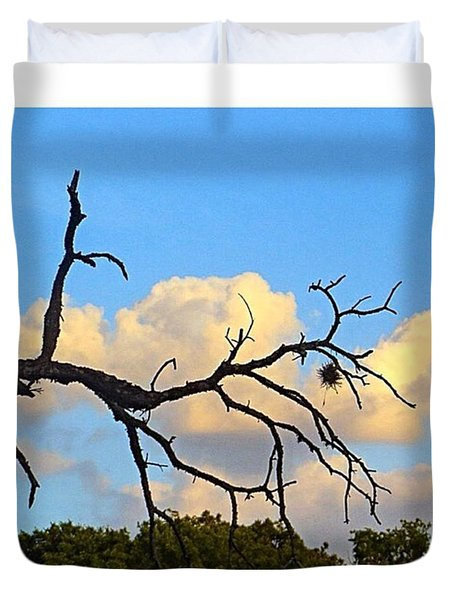 #grace And #beauty In The #texas #sky Duvet Cover