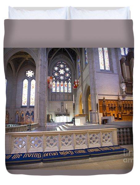 Grace Cathedral Altar Duvet Cover