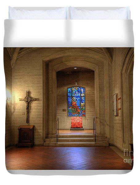 Grace Cathedral Side Altar Duvet Cover