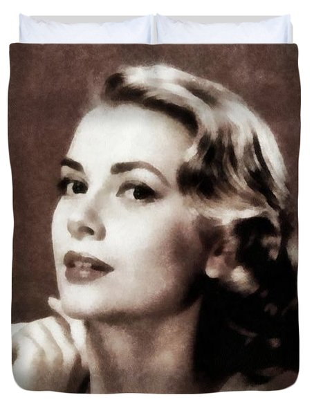 Grace Kelly, Actress, By Js Duvet Cover