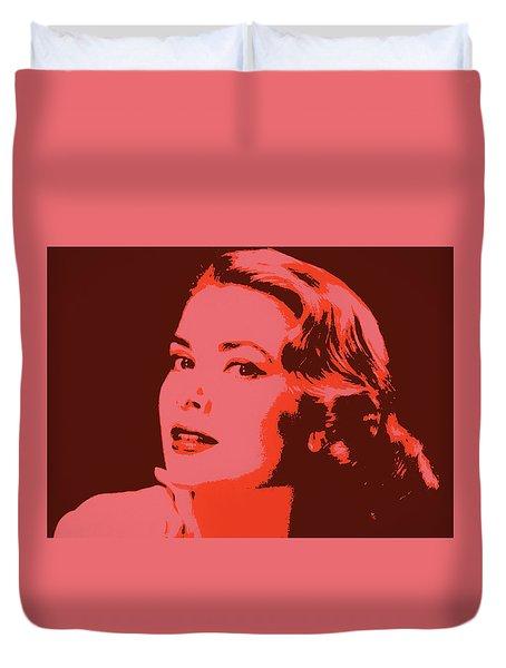 Grace Kelly Pop Art Duvet Cover by Dan Sproul