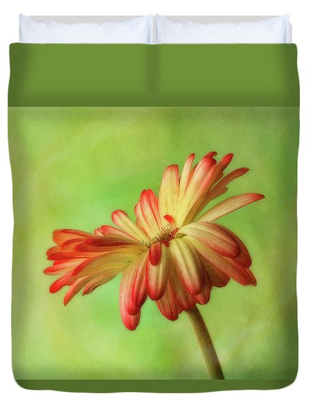Duvet Cover featuring the photograph Graceful Daisy by Mary Jo Allen