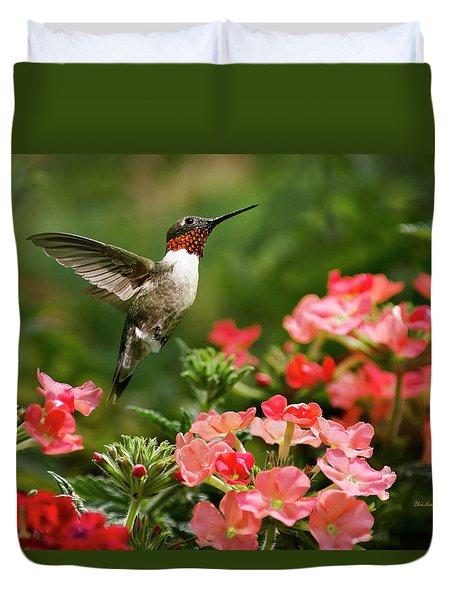 Graceful Garden Jewel Duvet Cover