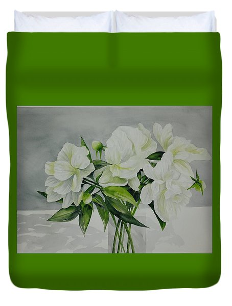 Graceful Peonies Duvet Cover